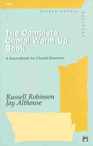Complete Choral Warm-Up Book   1995 edition cover