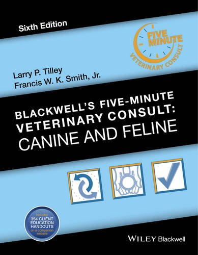 Blackwell's Five-Minute Veterinary Consult Canine and Feline 6th 2016 9781118881576 Front Cover