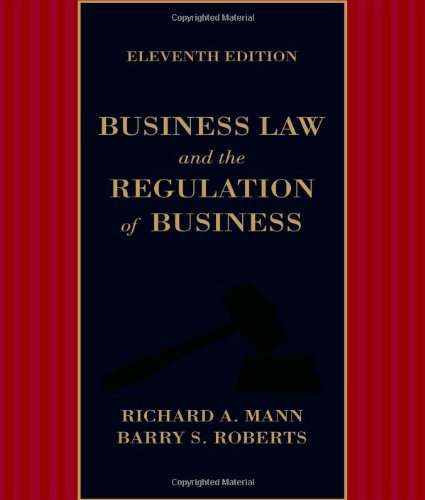 Business Law and the Regulation of Business  11th 2014 edition cover