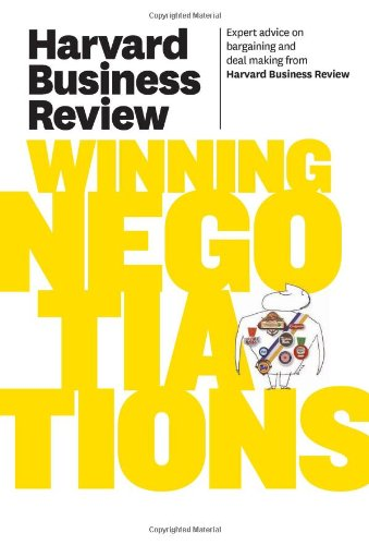 Harvard Business Review on Winning Negotiations   2011 9781422162576 Front Cover