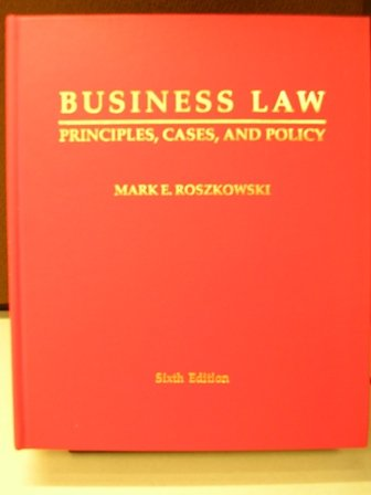 Business Law : Principles, Cases and Policy(Text)  2006 edition cover