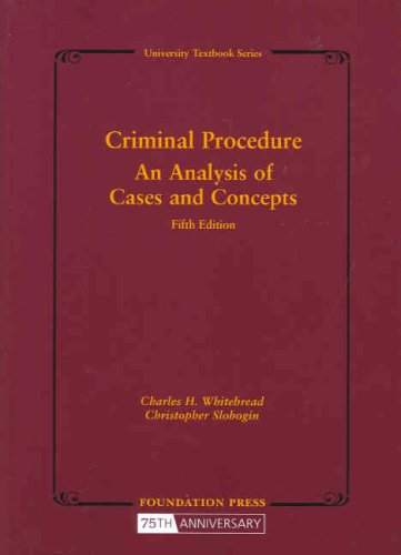 Criminal Procedure An Analysis of Cases and Concepts 5th 2008 (Revised) edition cover