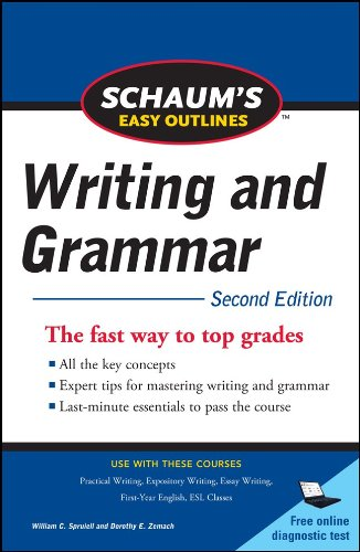 Schaum's Easy Outline of Writing and Grammar, Second Edition  2nd 2011 9780071760577 Front Cover