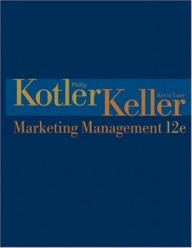 Marketing Management  12th 2006 (Revised) edition cover