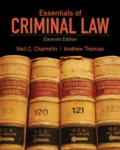 Essentials of Criminal Law  11th 2012 (Revised) edition cover