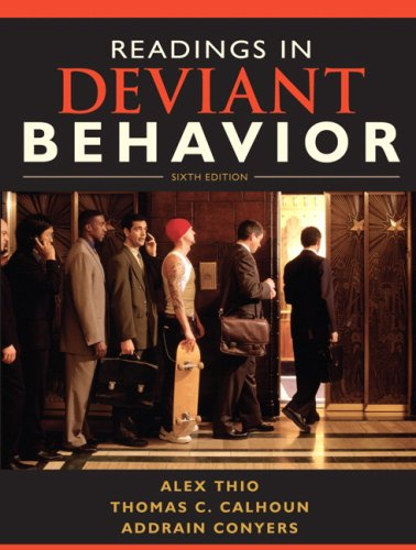 Readings in Deviant Behavior  6th 2010 edition cover