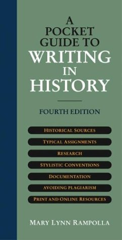 Pocket Guide to Writing in History  4th 2004 edition cover