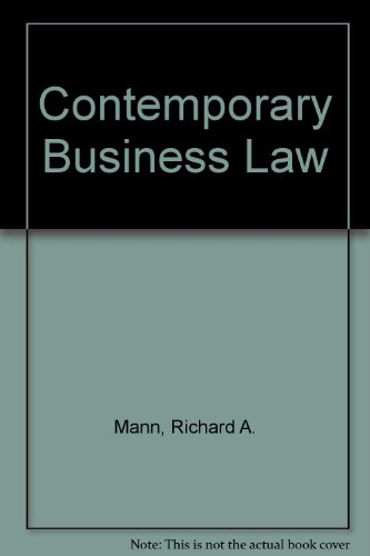 Contemporary Business Law  N/A 9780314058577 Front Cover