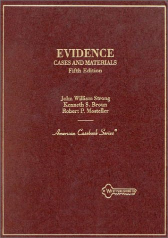 Cases and Materials on Evidence 5th 1995 9780314061577 Front Cover
