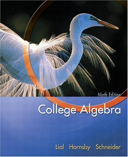 College Algebra  9th 2005 (Revised) edition cover