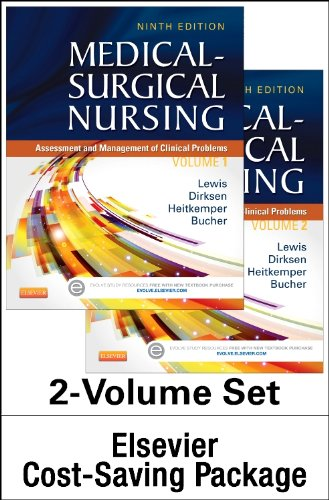 Medical-Surgical Nursing - Two-Volume Text and Study Guide Package Assessment and Management of Clinical Problems 9th edition cover