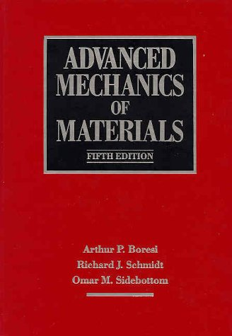 Advanced Mechanics of Materials  5th 1993 edition cover
