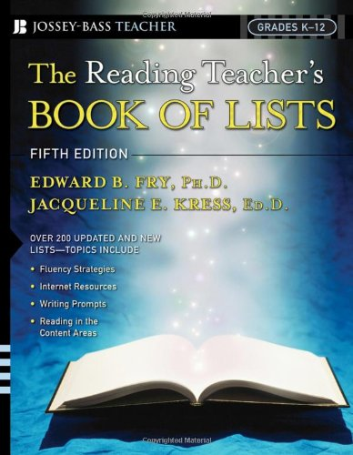 Reading Teacher's Book of Lists  5th 2006 (Revised) edition cover