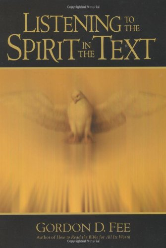 Listening to the Spirit in the Text   2000 edition cover