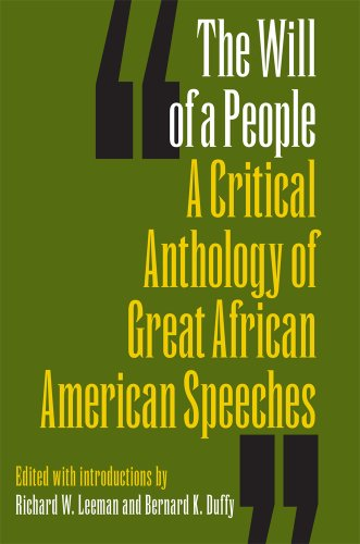Will of a People A Critical Anthology of Great African American Speeches  2011 edition cover