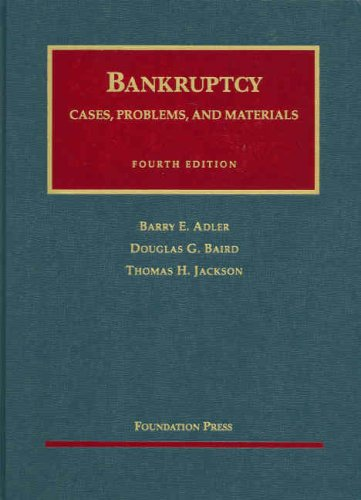 Bankruptcy, Cases, Problems and Materials  4th 2007 (Revised) edition cover