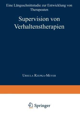 Supervision Von Verhaltenstherapien   1997 9783824442577 Front Cover