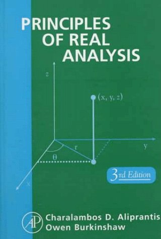 Principles of Real Analysis  3rd 1998 (Revised) edition cover