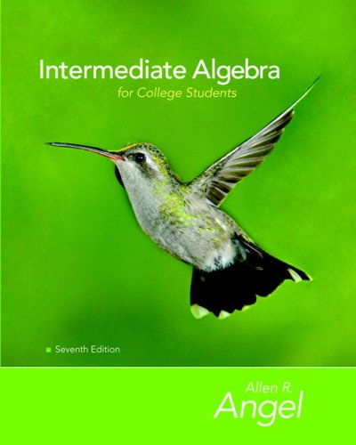 Intermediate Algebra for College Students  7th 2008 edition cover