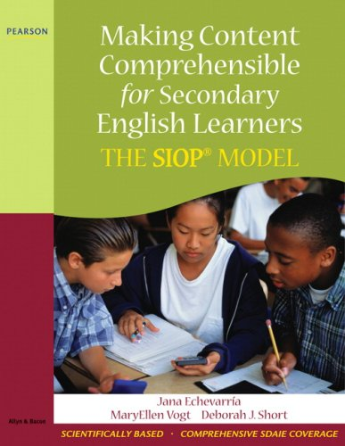 Making Content Comprehensible for Secondary English Learners The SIOP Model  2010 edition cover
