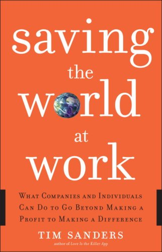 Saving the World at Work What Companies and Individuals Can Do to Go Beyond Making a Profit to Making a Difference  2008 edition cover