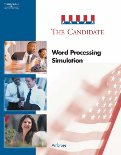Candidate Word Processing Simulation 2nd 2004 9780538437578 Front Cover