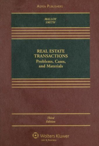 Real Estate Transactions Problems, Cases, and Materials 3rd 2007 (Revised) edition cover