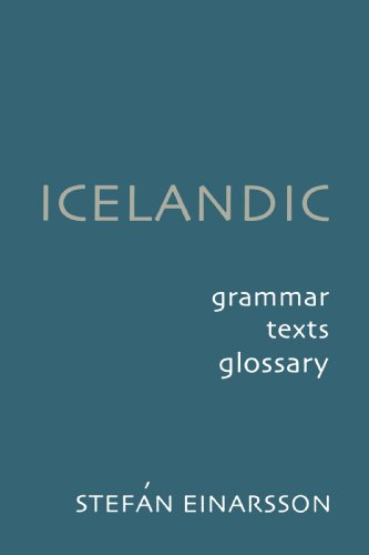 Icelandic Grammar, Text and Glossary 2nd 2001 edition cover