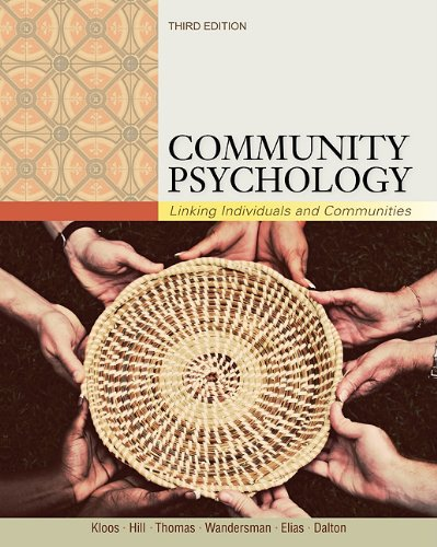Community Psychology Linking Individuals and Communities 3rd 2012 edition cover