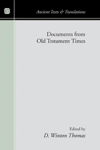 Documents from Old Testament Times  N/A edition cover