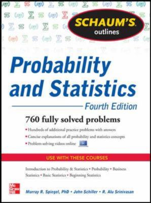 Probability and Statistics 897 Fully Solved Problems 4th 2013 edition cover