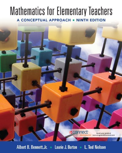 Mathematics for Elementary Teachers A Conceptual Approach 9th 2012 edition cover