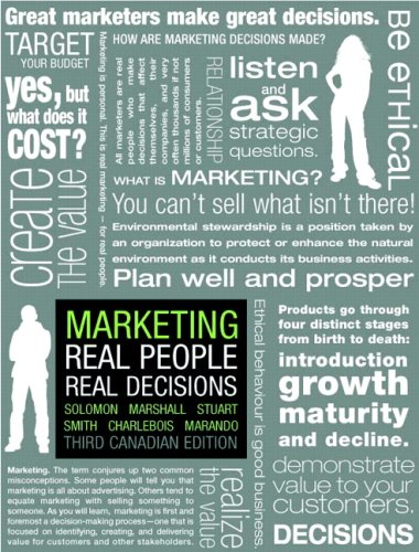 MARKETING >CANADIAN< 3rd 2008 9780135145579 Front Cover
