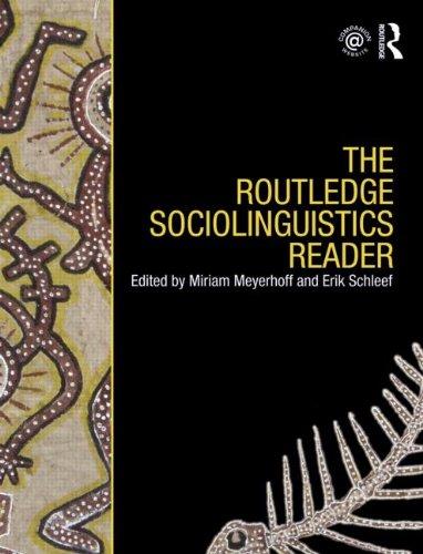 Routledge Sociolinguistics Reader   2009 edition cover