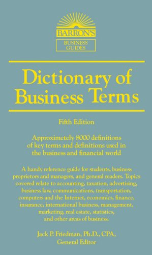 Dictionary of Business and Economic Terms  5th 2012 (Revised) edition cover