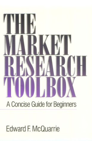Market Research Toolbox A Concise Guide for Beginners  1996 edition cover
