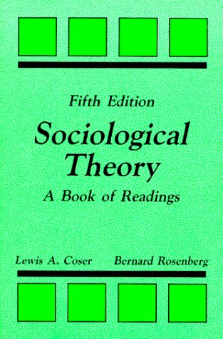 Sociological Theory A Book of Readings 5th edition cover