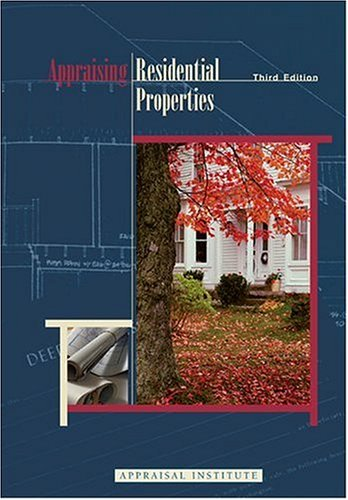Appraising Residential Properties 3rd 1999 edition cover
