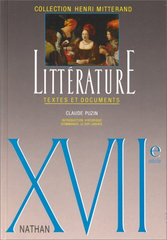 Litterature: Textes et Documents N/A edition cover