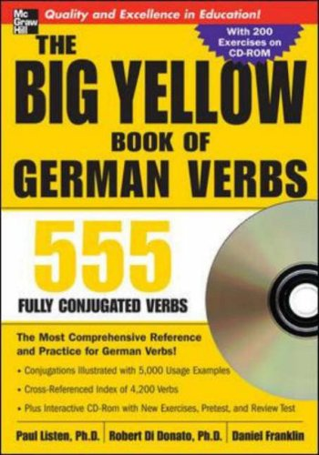 Big Yellow Book of German Verbs 555 Fully Conjuated Verbs  2007 9780071487580 Front Cover