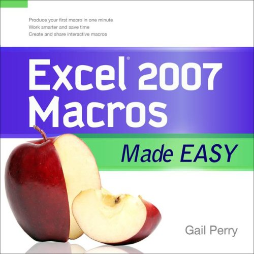 Excel 2007 Macros Made Easy   2009 edition cover
