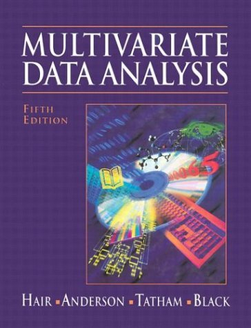 Multivariate Data Analysis  5th 1998 edition cover