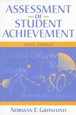 Assessment of Student Achievement  6th 1998 edition cover