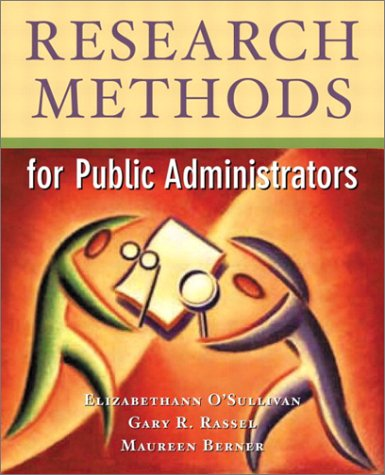 Research Methods for Public Administrators  4th 2003 (Revised) edition cover