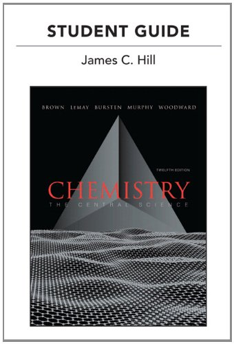 Student's Guide for Chemistry The Central Science 12th 2012 edition cover