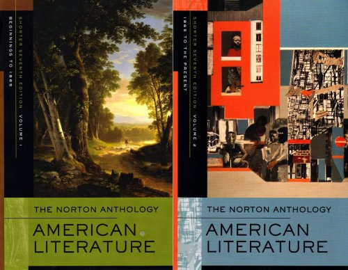 Norton Anthology of American Literature  7th 2008 edition cover
