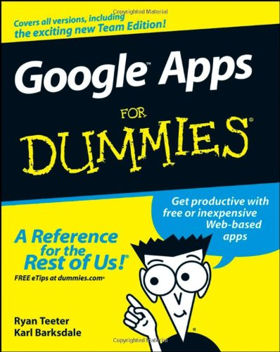 Google Apps for Dummies   2008 edition cover