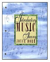 Introductory Music Theory  1st 1995 9780534188580 Front Cover
