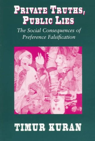 Private Truths, Public Lies The Social Consequences of Preference Falsification  1995 (Reprint) edition cover
