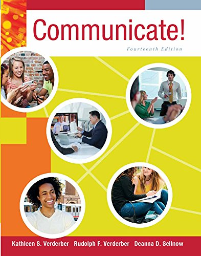 Bundle: Communicate!, 14th + Communication Studies CourseMate with EBook, SpeechBuilder Express? 3. 0, InfoTrac� 1-Semester Printed Access Card Communicate!, 14th + Communication Studies CourseMate with EBook, SpeechBuilder Express? 3. 0, InfoTrac� 1-Semester Printed Access Card 14th 2014 9781285722580 Front Cover